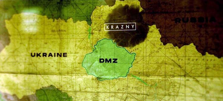 """Карта Незалежной через 15 лет: демилитаризованная зона в центре и сепаратистские """"красные"""" области на северо-востоке. Не там, где сейчас ДНР и ЛНР"""