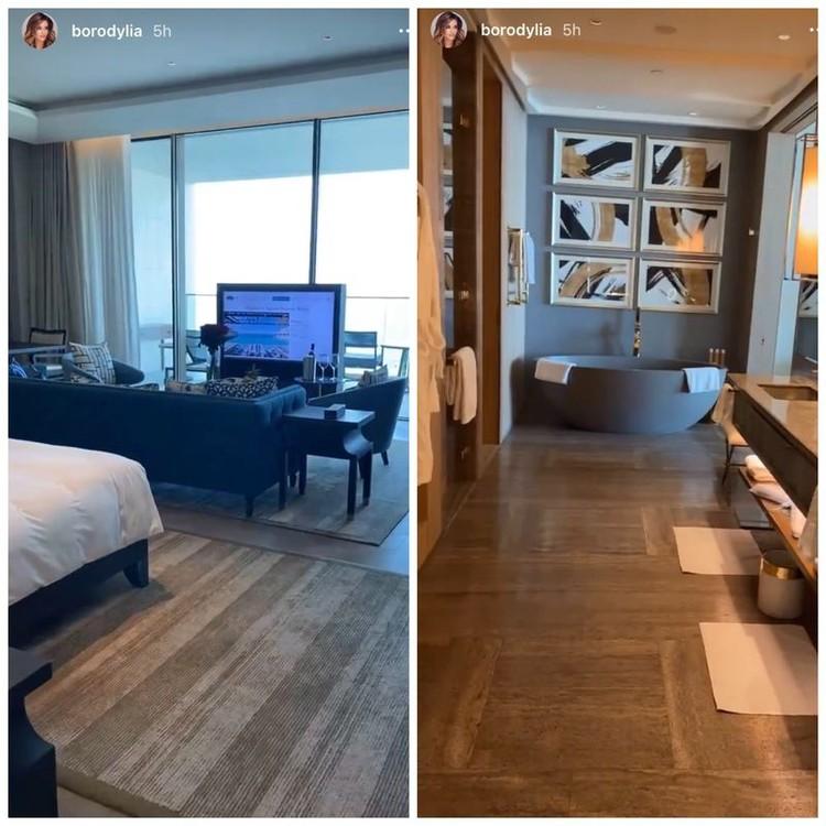 37-летняя Ксения Бородина сейчас отдыхает в шикарном отеле ОАЭ – номер в нем стоит 90 тысяч рублей в сутки.