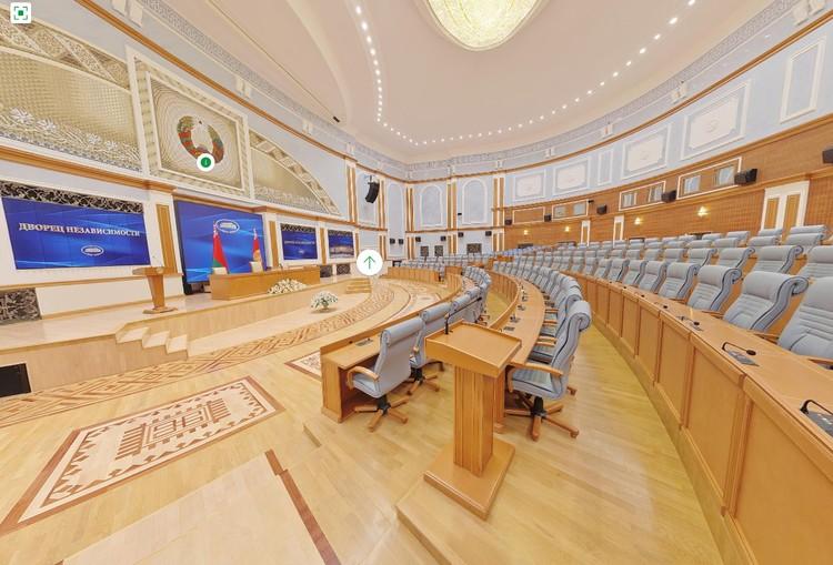 Универсальный зал Дворца Независимости в Минске. Фото: president.gov.by.