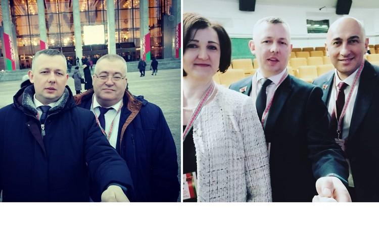 Чиновник из Волковыска приехал на ВНС с селфи-палкой. Фото: соцсети.