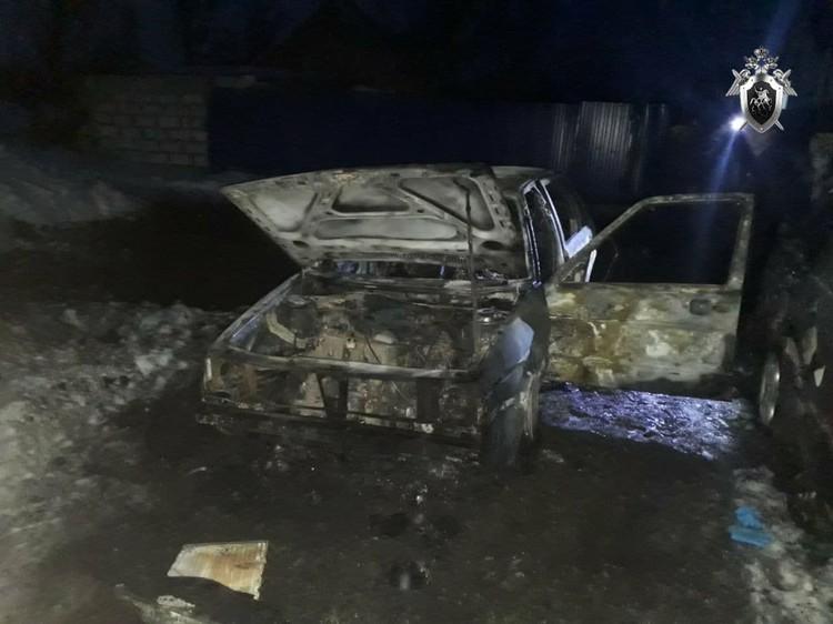 Сгоревший автомобиль в Озерском районе