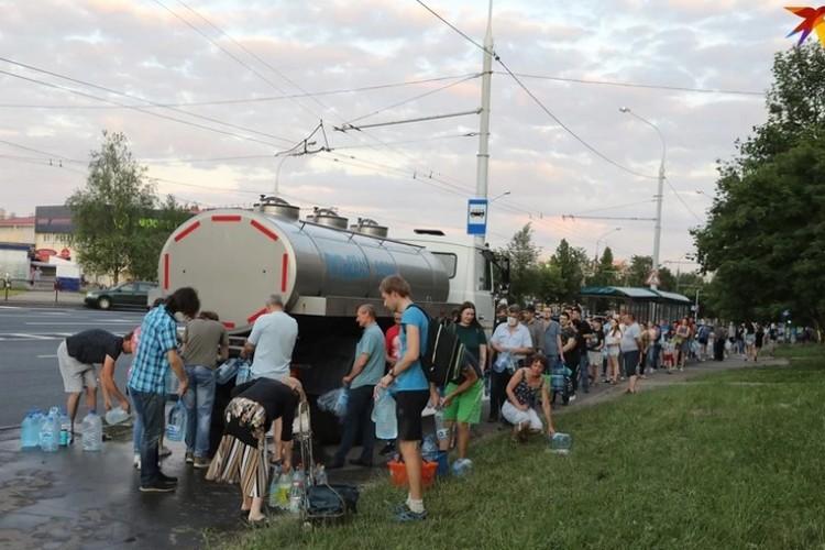 В июне 2020 года у жителей Московского, Фрунзенского и частично Октябрьского районов Минска, которые получают воду из водохранилища, из-за жары из кранов три дня текла вонючая вода, и люди выстаивали очередь к цистернам.