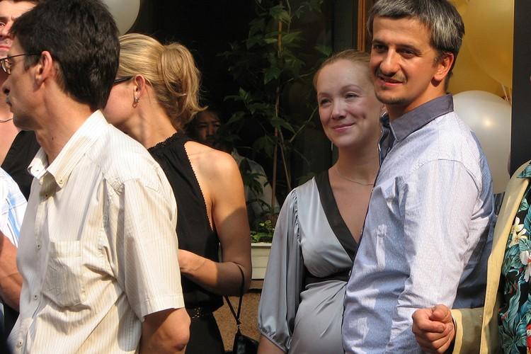 Дарья Мороз с мужем, режиссером Константином Богомоловым.