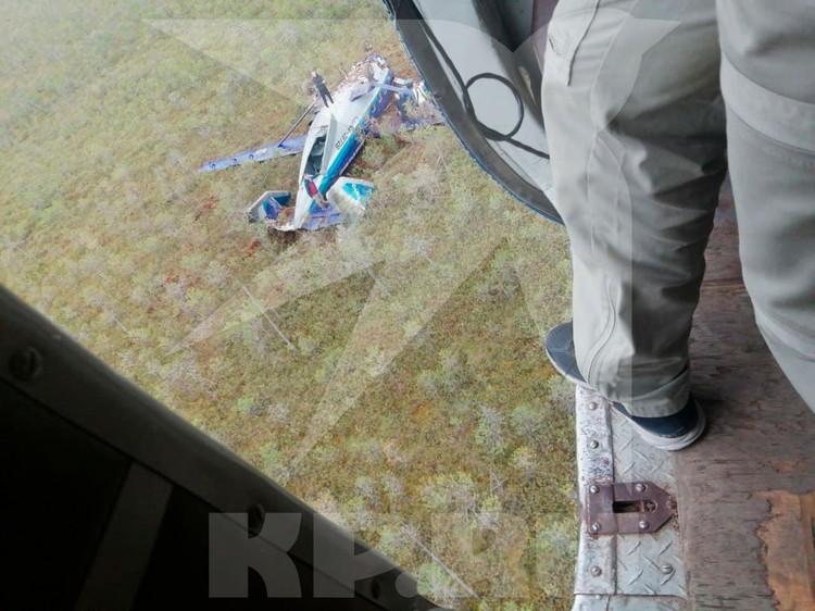 """Ан-28 перевернулся через """"голову"""". Фото: Сибирский авиационный поисково-спасательный центр"""