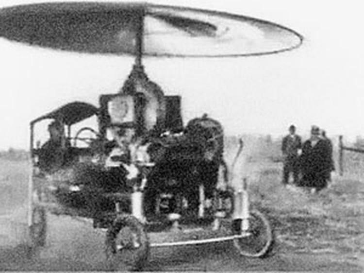 Пращуры летающих тарелок. Самолет-зонтик 1911 года...