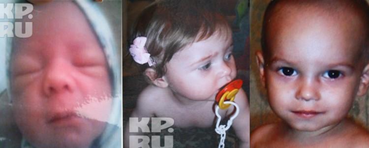Погибшие малыши: Артемка, Карина и Ярослав.