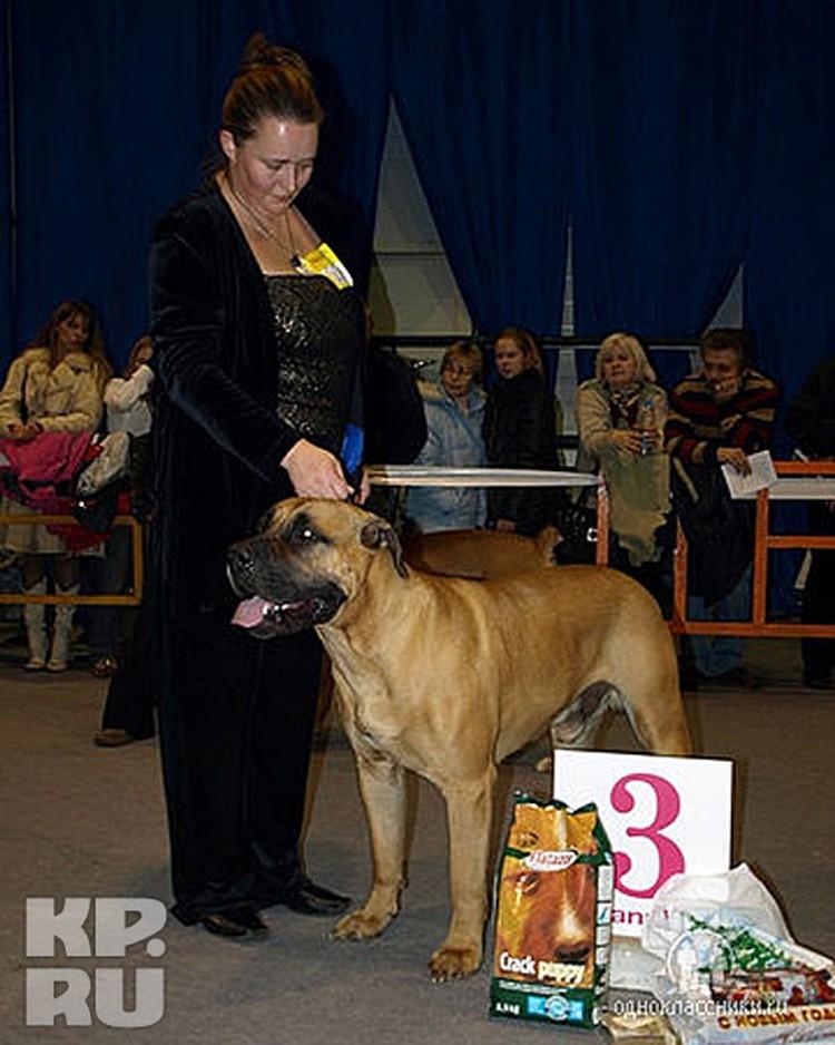 Людмила Савельева часто выступала со своими собаками на выставках.