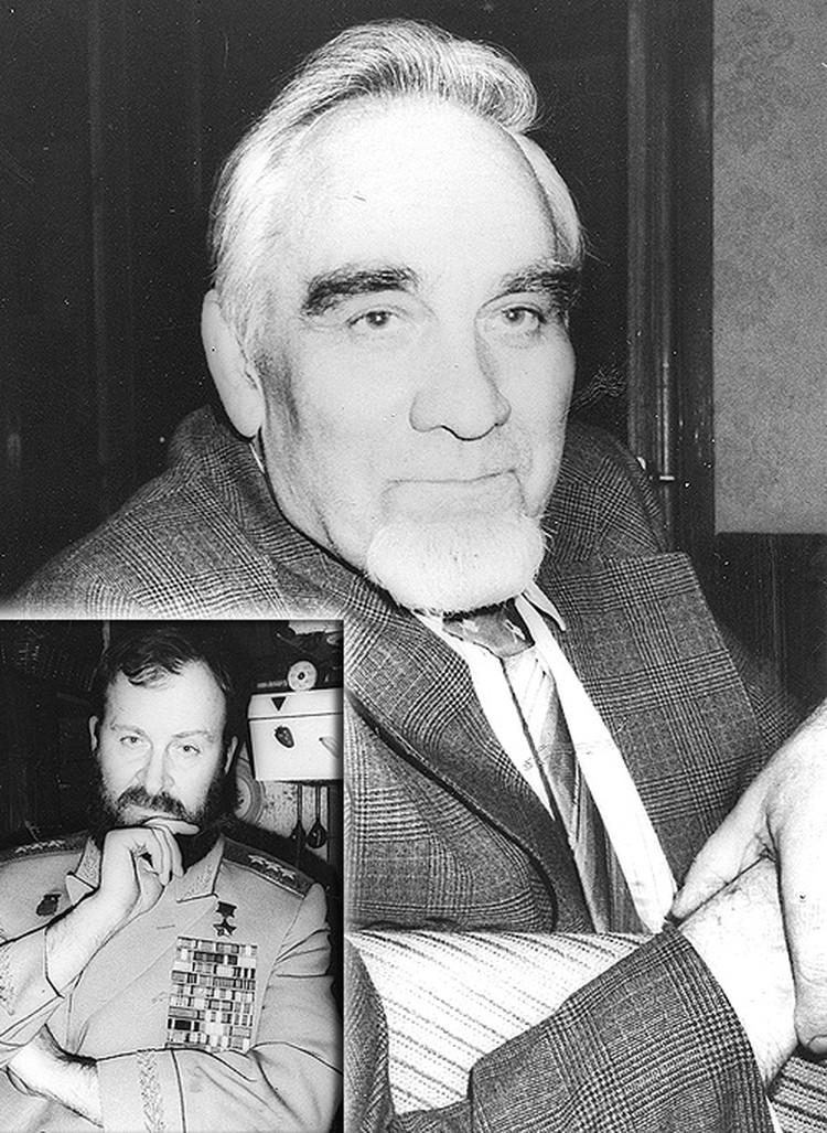 Генерал-полковник Г. Дольников и…ведущий «хмельной» колонки Н. Кривомазов в генеральском кителе  Дольникова – единственное свидетельство той встречи в 90-е годы прошлого тысячелетия.