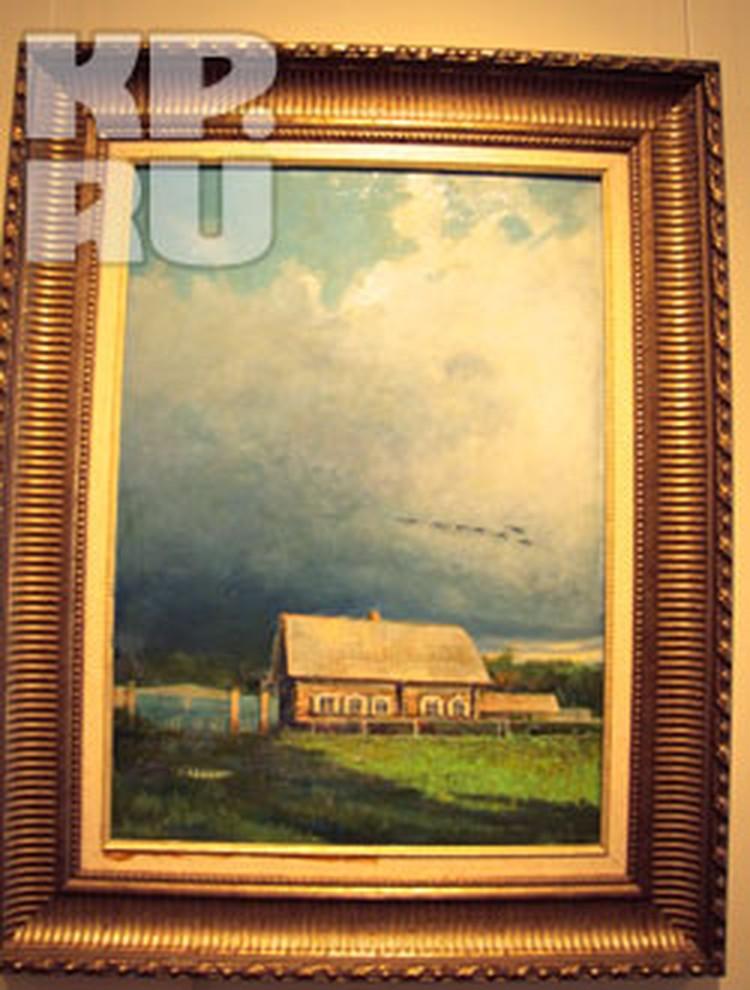 Космонавт и художник Алексей Леонов написал картину об Отчем доме.
