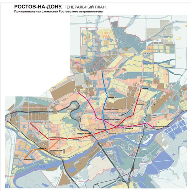 План метрополитена в Ростове-на-Дону