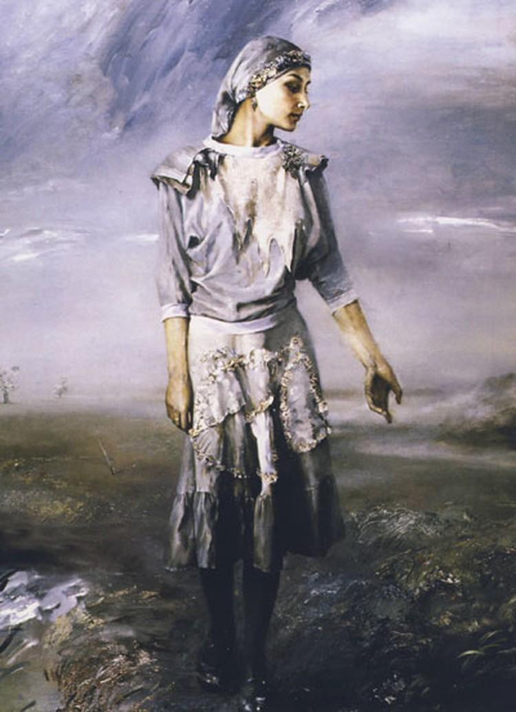 На картине «Канец сезона туманаў» художник нарисовал будущую жену.