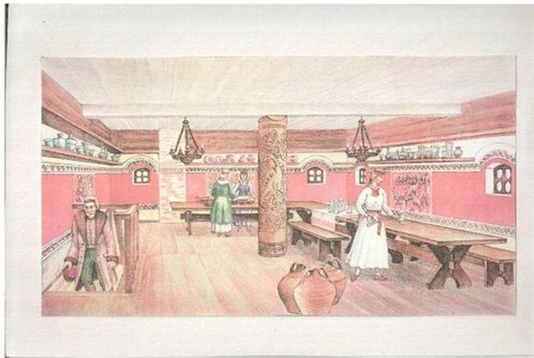 Реконструкцию «повалуши» художник Виктор Стащенюк сделал на основе найденных в нем предметов.