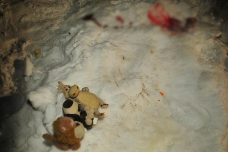 Александра отнесла на место гибели сына его любимые игрушки