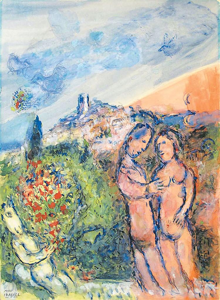 Это полотно Шагал написал в 1981 году.