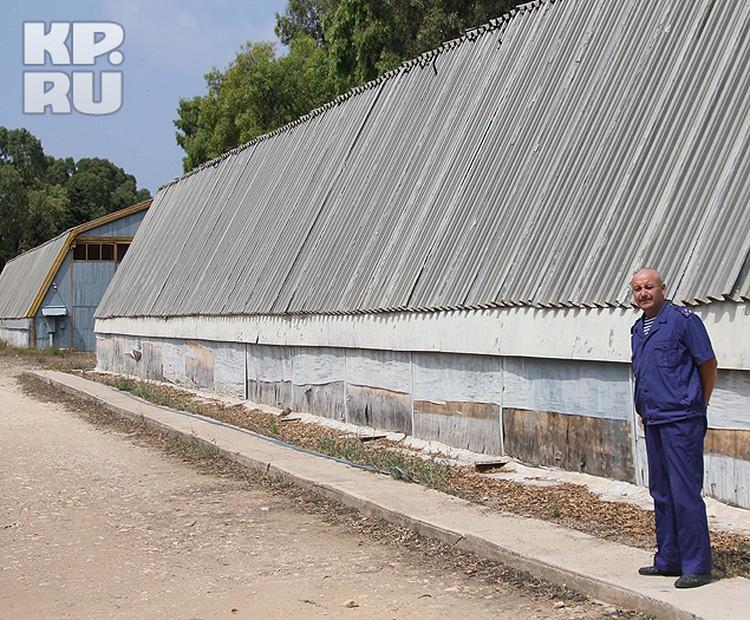 Начальник 720 ПМТО Дмитрий Жаворонков у складов ПМТО.