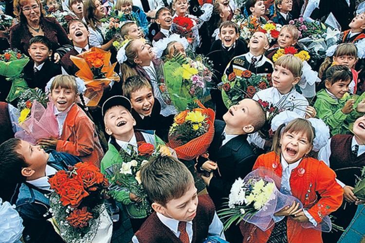 Эх, хорошо  в школе первого сентября! Так весело и задорно! Пожелаем же малышам, чтобы учеба была им только в радость.