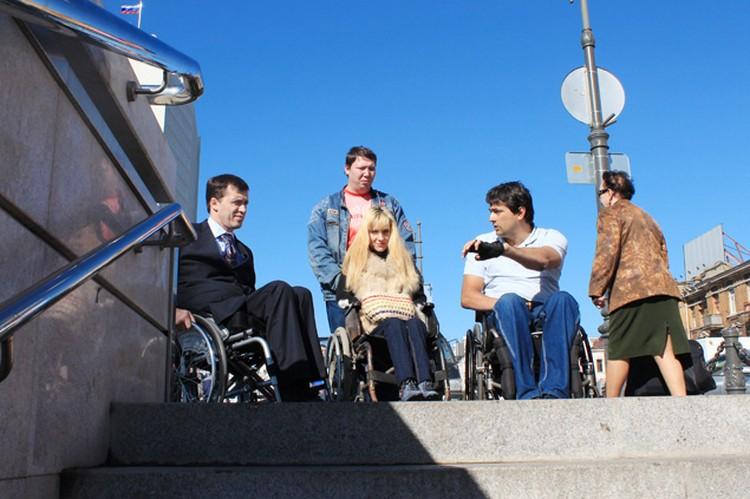 Строители подземного перехода об инвалидах не подумали...