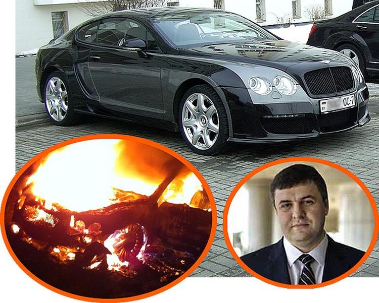 Один из самых дорогих автомобилей в Беларуси сгорел дотла месяц назад