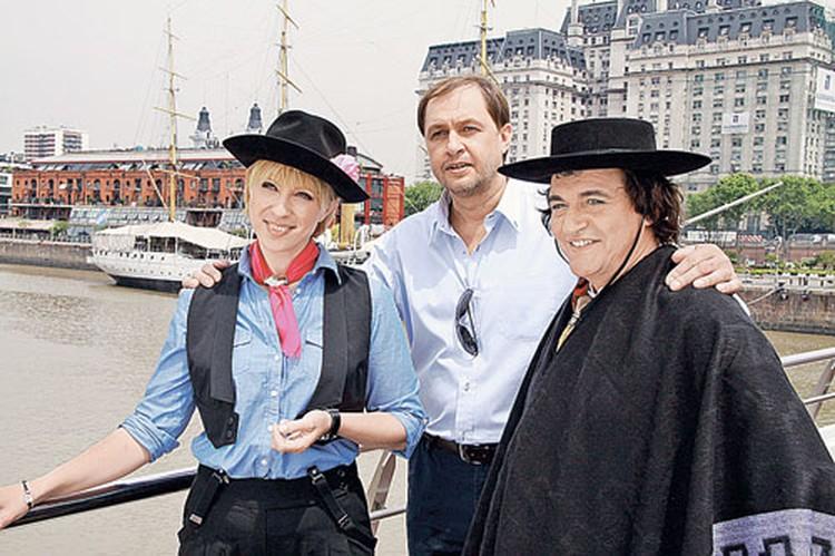 Аргентинские приключения в программе «Жестокие игры» ведущей помогали пережить Кирилл Набутов и Дмитрий Дибров.