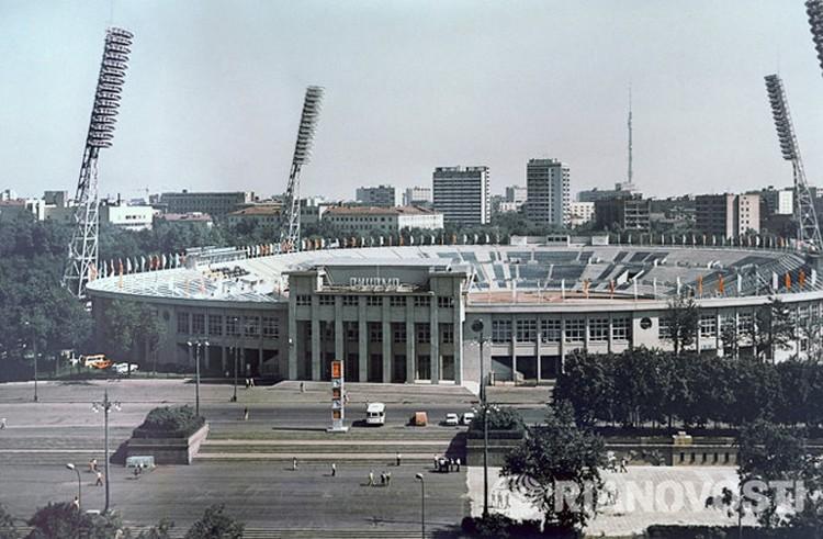 """Стадион """"Динамо"""" после реконструкции к Олимпиаде-1980."""
