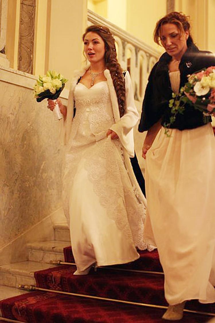 Ольга Радиевская в свадебном платье