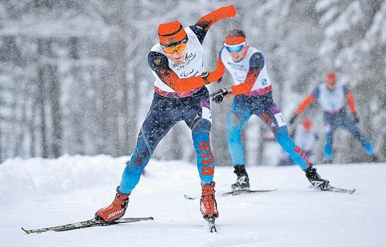 2. Восхищалась упорством лыжников.