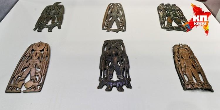 Экспонаты пермского звериного стиля.