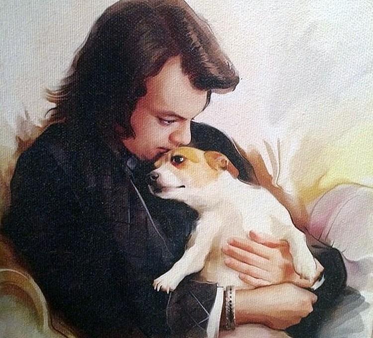 Филипп Киркоров и любимый пёс.
