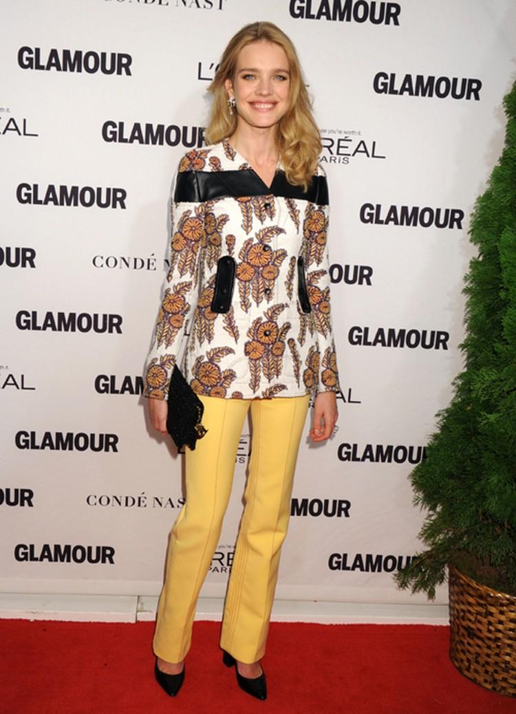 На церемонию «Glamour Women of The Year awards» в концертный зал Карнеги-холл Наталья пришла в ярком брючном костюме.