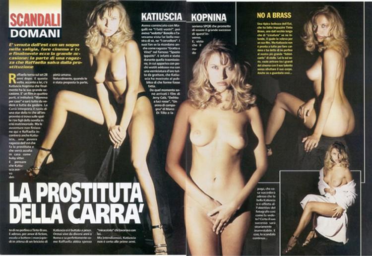 Пикантные фотографии актрисы и вырезки из эротических журналов 90-х с упоминанием ее имени до сих пор можно найти на итальянских сайтах для взрослых.