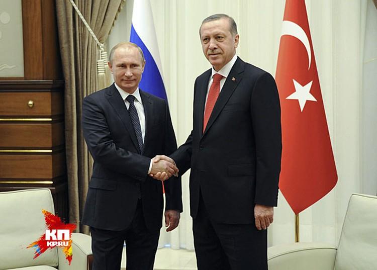 После двухчасовой задержки Путин и Эрдоган вышли к микрофонам