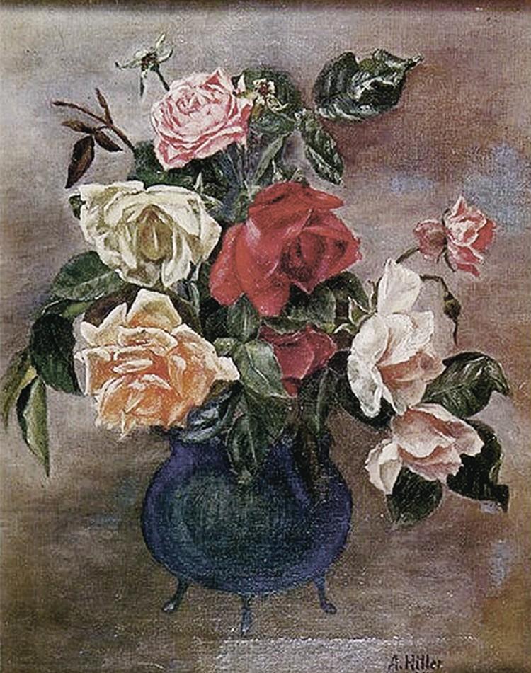 Гитлер, оказывается, вдуше был романтиком: любил рисовать букеты ипейзажи.