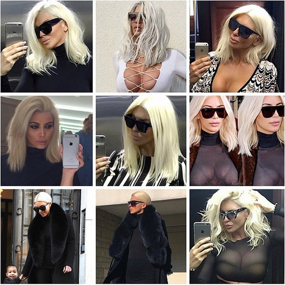 Ким Кардашьян превратилась в сексуальную блондинку