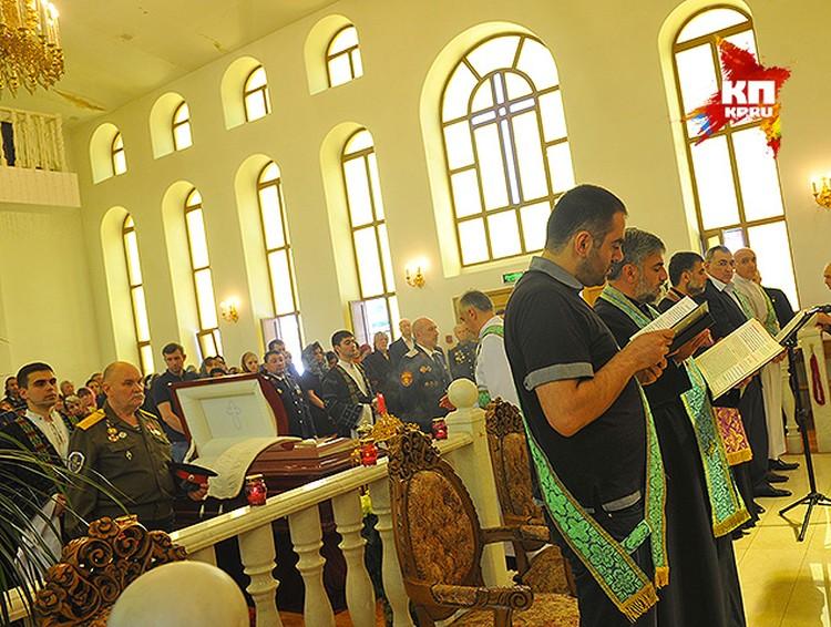 Отпевание проходило на арамейском языке.