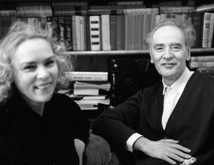 Лев Давидович с женой Корой.