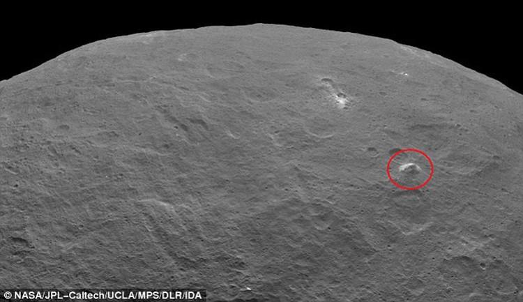 На странную структуру обратили внимание в НАСА.