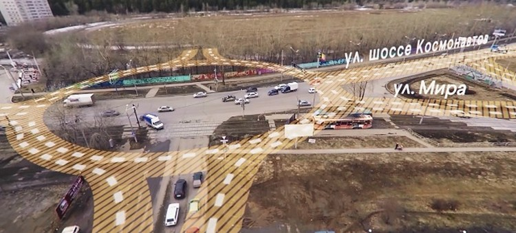 На перекрестке шоссе Космонавтов, улиц Мира и Свиязева будет круговая развязка. Проект: «РосЕвроДевелопмент»