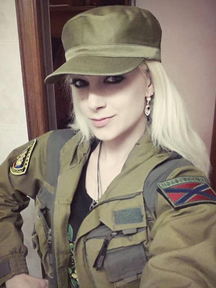 Наталья Хим, уехала несколько месяцев назад на Донбасс и вступила в ополчение ДНР. Фото: vk.com/bodrova88