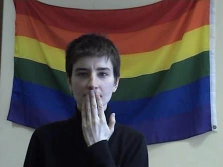 Клиент лесбиянка наказывает в баре