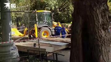 В Москве обрушился котлован на стройке