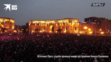 Массовые акции сторонников Пашиняна и представителей оппозиции сняли с дрона