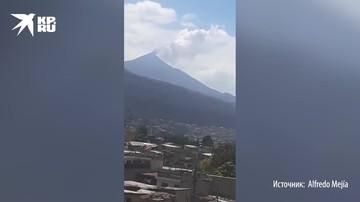 Извержение вулкана Пакая в Гватемале