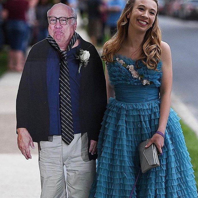 Hey Allison- I heard you took cardboard Danny to Prom. What a coincidence. He took cardboard Allison to Paddy s...