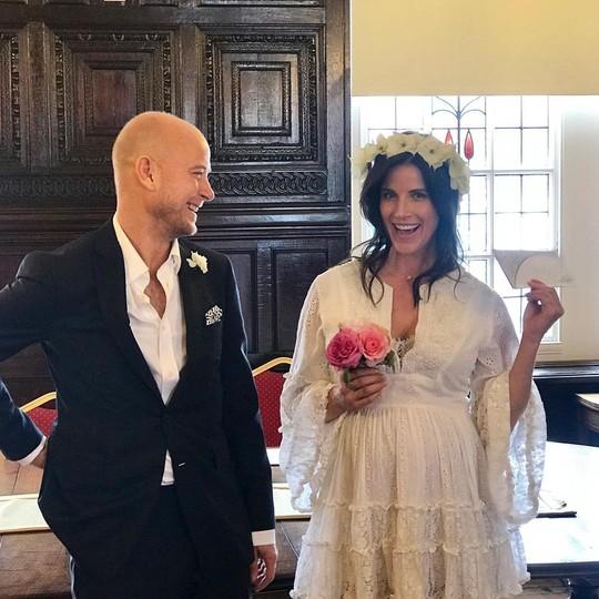 My beautiful new wife @morganesnyder #shotgunwedding