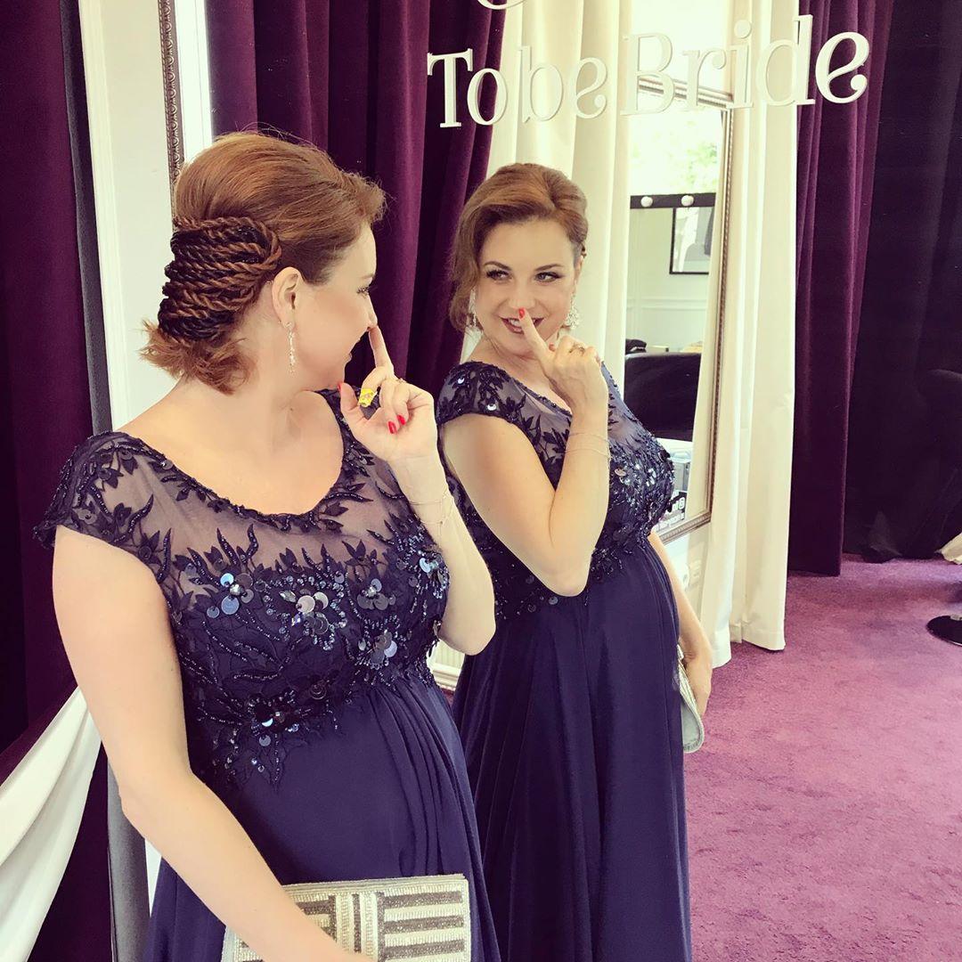 Ирина Слуцкая и ее красивое платье