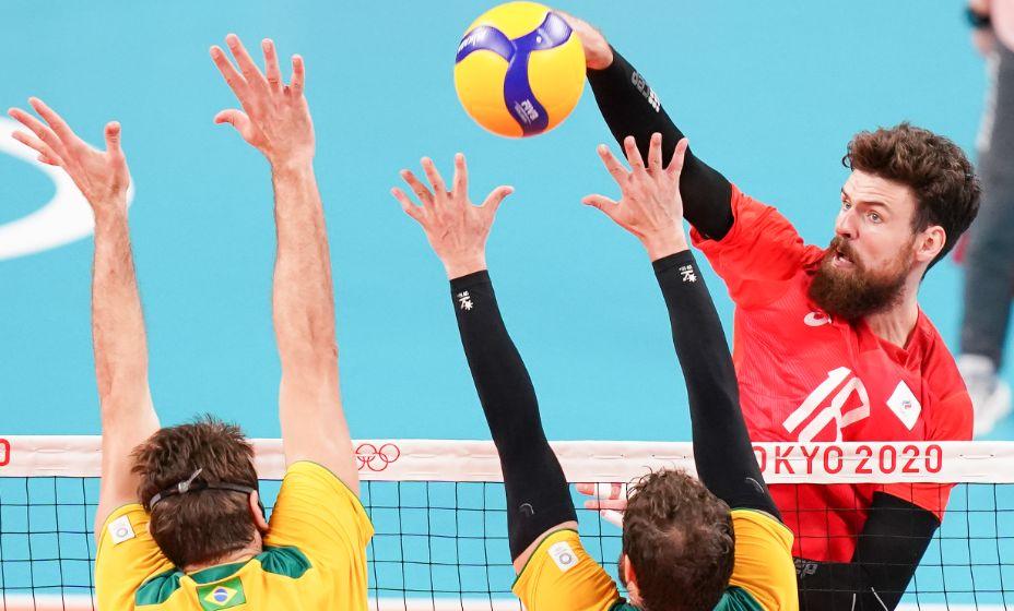 Волейболист Егор Клюка и его товарищи по сборной России отдали все силы в финале Токио-2020. Фото: Global Look Press
