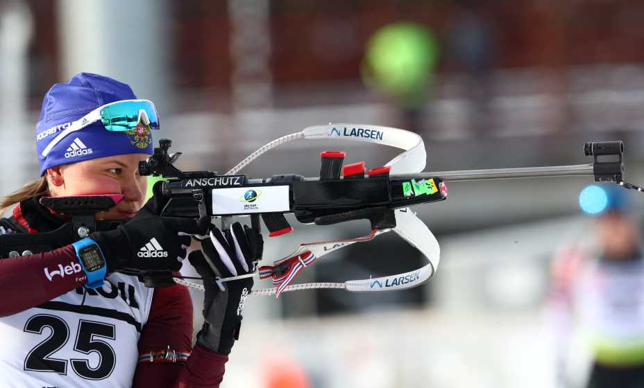 Биатлонистка Кристина Резцова будет бороться за попадание на Олимпиауд-2020 в Пекине. Фото: ТАСС