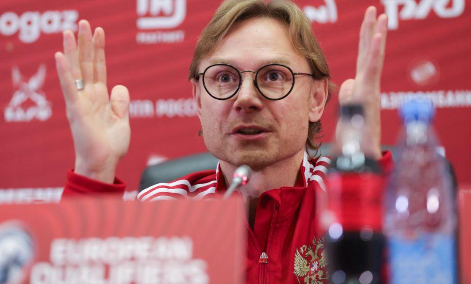 Главный тренер сборной России Валерий Карпин объяснил смену капитанов в команде. Фото: РФС